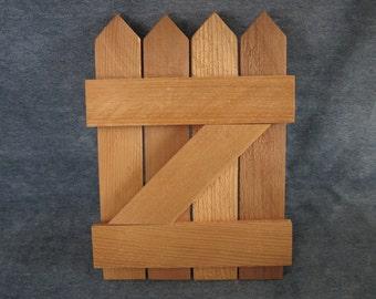 "7x9.5"" wood gate,fence,craft,vintage"