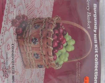"Berry basket kit,Burgundy Hill collection,reed,4""x4"""
