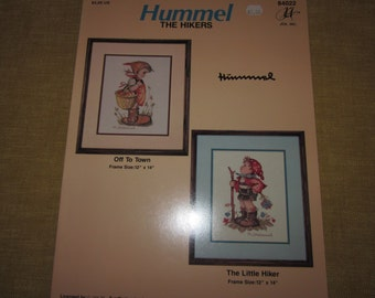 Hummel,The Hikers, cross stitch pattern booklet,needlepoint