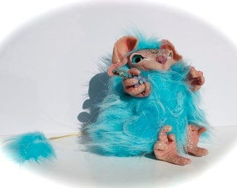 Fjordhild, a mini troll of the Buggel troll family from the mountains of Norway