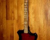 Vintage soviet Rock Guitar Elgava made USSR Rare