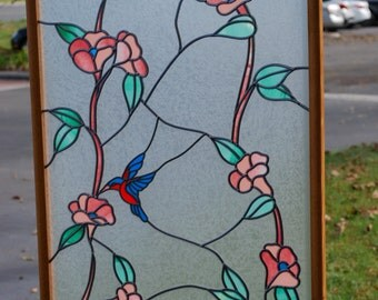 Stained Glass Overlay in wood frame