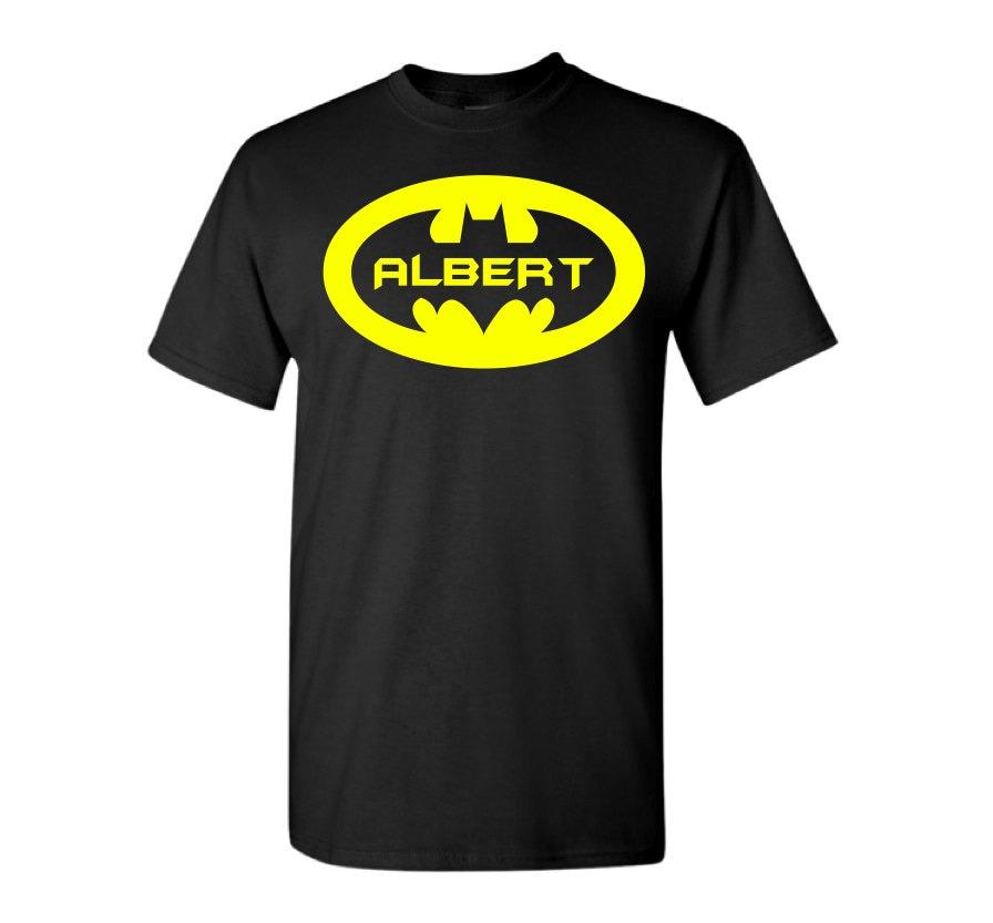 Personalized batman t shirt custom batman shirt with name for Unique custom t shirts