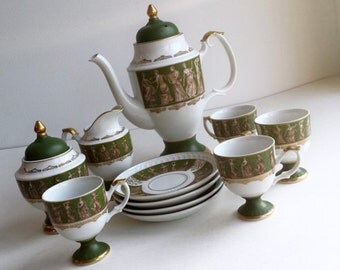 Vintage Royal Crown Arnart Dansant 11 Piece Tea Set #2946 1960s