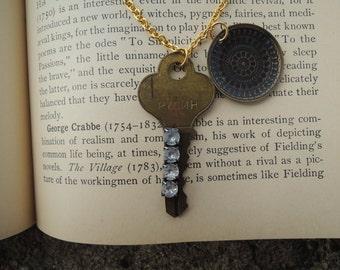 One of a Kind Vintage Key Necklace
