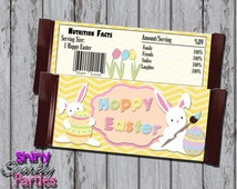 Printable EASTER CANDY Bar WRAPPERS - Easter Bunny Candy Wrappers - Hoppy Easter - Easter Candy Bar Labels - Easter Printables - Bunny Wraps