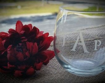 Set of 4 Personalized Etched Glasses