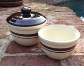 Pair of McCoy 125 Mixing Bowls 1 Quart and 1 Pint and 1 Lid