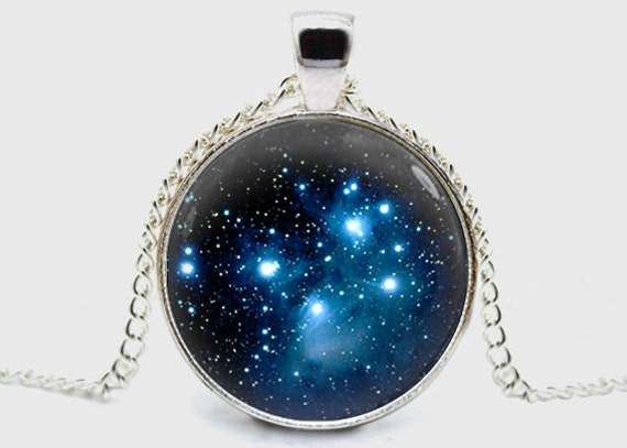 pleiades handmade pleiades cluster necklace space universe by savannahspace 1408