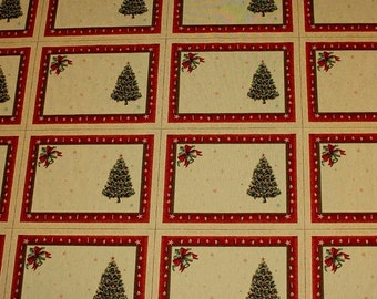 Fabric cotton polyester acryl tapestry fir tree 4 place mats christmas