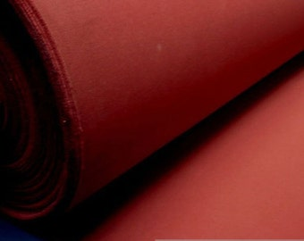 Fabric pure cotton canvas bordeaux wide water - repellend dark red