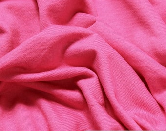 Fabric pure cotton single jersey hot pink roughened sweatshirt