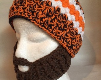 Bearded Beanie Hat for Child or Adult