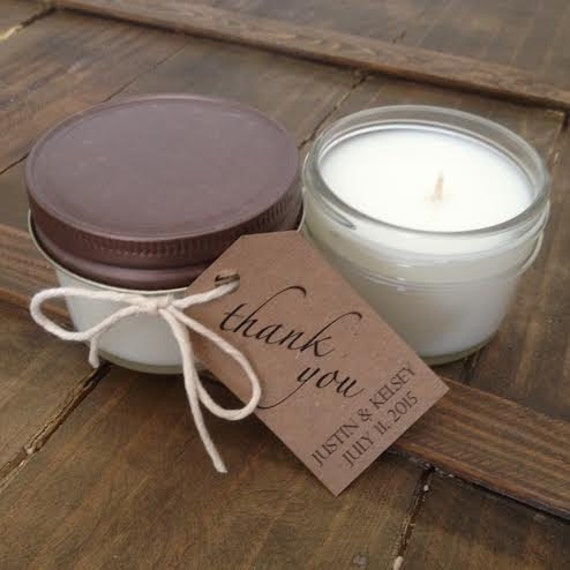 Candle Wedding Favors Mason Jar 4 Ounce Soy Candles By Nywicks