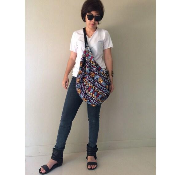 Cotton Bag, Crossbody Bag, Sling Bag, Hip Bag, Thai Bag, Shoulder Bag, Boho Hippie Bag (SH 05)