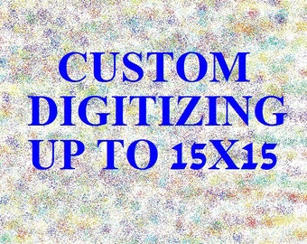 Custom Machine Embroidery Digitizing Flat Rate based on Size, Embroidery Digitizing, Machine Embroidery, Digitizing Service, Custom
