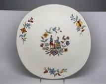 1950's Iva-lure Crooksville china Co. Ohio, Large ceramic Platter with a Pennsylvania Dutch Design