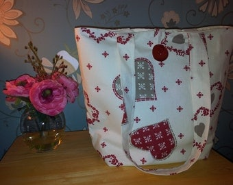 Lovely hearts handmade bag
