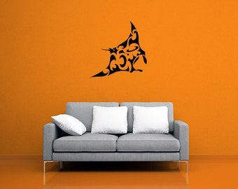 Tribal Manta Ray Wall Decal