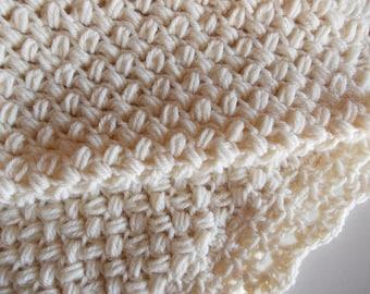 crochet blanket, plaid,afghan,baby,cot, crochet ,Soft wool plaid