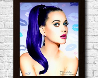 Katy Perry Digital Painting Print