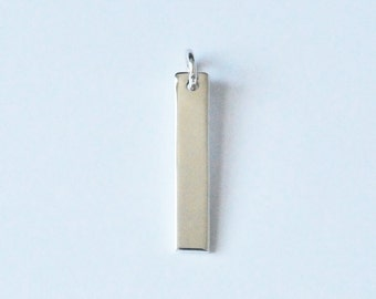 Sterling Silver Bar, Bar Charm, Bar Pendant, 6x40 mm, Fast Shipping from USA