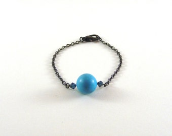 Adhara - Turquoise and grey bracelet