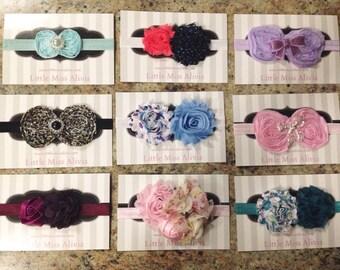 Flower or Bow Headbands