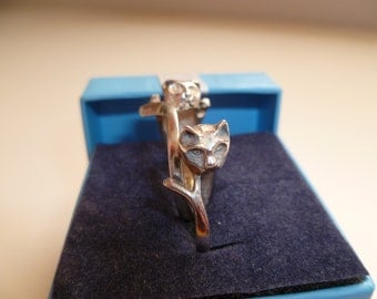 Vintage .925 Sterling Cat rings