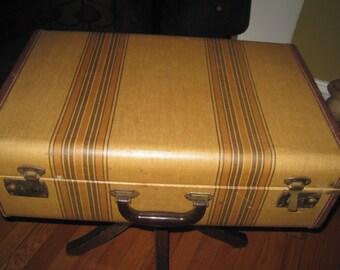 Vintage striped suitcase luggage piece