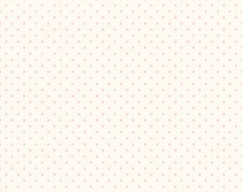 1 Yard- BABY PINK  La creme Swiss Dot by Riley Blake Designs- C600-75