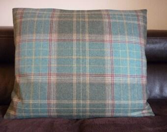 Large Green Tartan Cushion