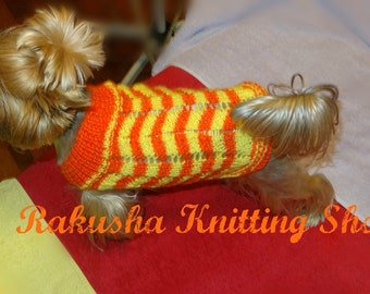 Clothing for yorkie. Dog sweater. Pets clothes. Pets clothing. Dog sweater