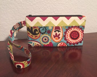 Zipper pouch with Wrist Strap