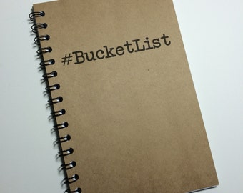 Journal, Bucket List, Bullet Journal, Notebook, Hashtag, Bucket List Journal, Spiral notebook, Spiral Journal, gift, Sketchbook, Adventure