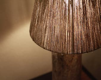 Driftwood Lamp - Hemp/Jute Shade
