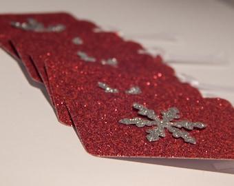 Snowflake Tags - Christmas Gift Tags - Holiday Gift Tags - Christmas gift wrap - Holiday Gift Wrap - Unique Christmas Gift Tags - Set of 12