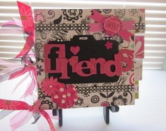 Best Friends Girls Scrapbook Album, Premade Album, Chipboard Album, Memory Book, Photo Album