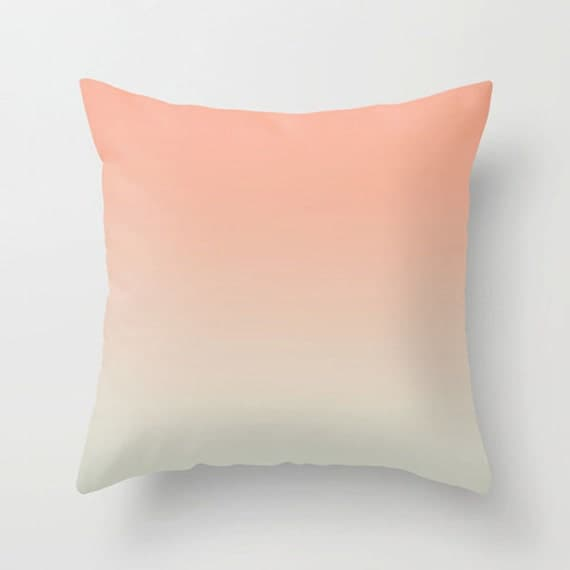 Etsy Pink Throw Pillow : Decorative throw pillow soft pink beige pillow modern design