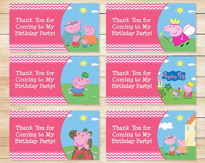 Printable peppa pig birthday goody bag tags by for Goodie bag tag template