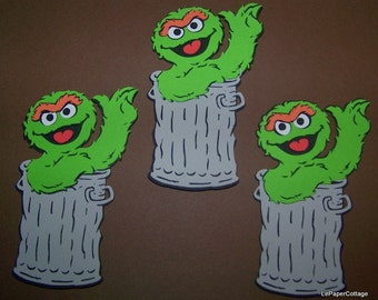 Oscar the Grouch die cut