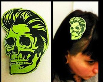 Rockabilly Greaser Skull Hair Clip