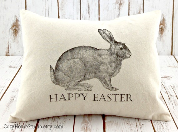 Easter Throw Pillow Covers : Items similar to Easter Pillow - Bunny Pillow - Rabbit Pillow Cover - Decorative Throw Pillow ...