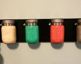 Mason jars organizer
