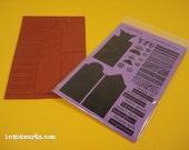 Tres Retablos / Invoke Arts Collage Rubber Stamps / Unmounted Stamp Set