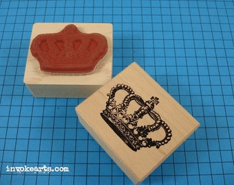 Royal Crown Stamp / Invoke Arts Collage Rubber Stamps