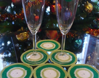 Seventy centrino and decorations coordinated glasses