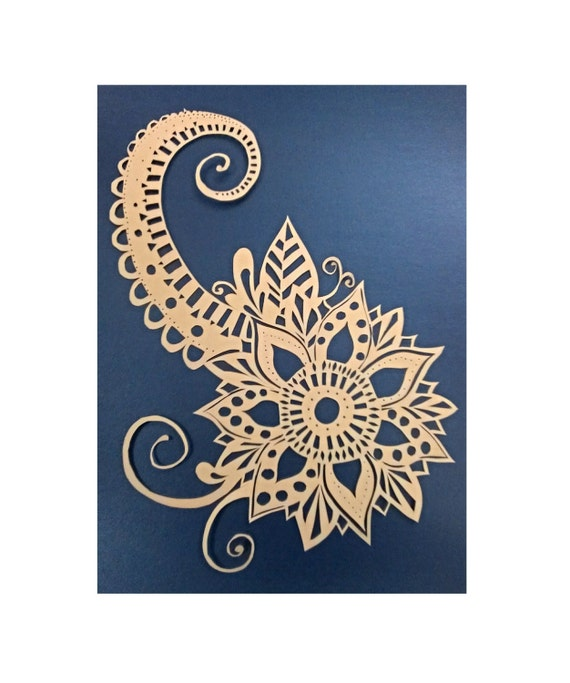 Basket Weaving Nuneaton : Small flowers personal use papercut template pattern