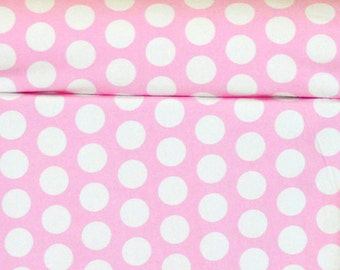 Baby Pink French Dots Knit Fabric 1/2 yard