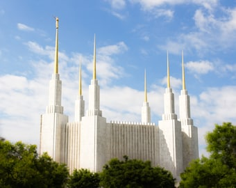 Standout Mounted Print of Washington DC LDS Temple